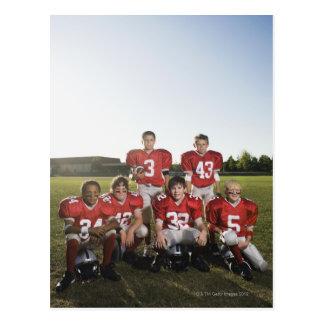 分野の青年フットボール・チームのポートレート ポストカード