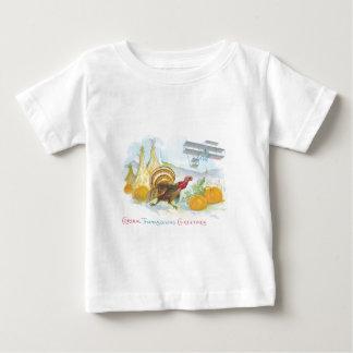 分野の飛行機を追跡するトルコ ベビーTシャツ