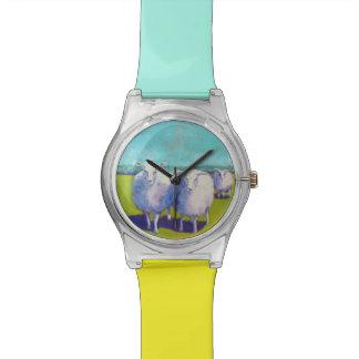 分野の2頭のヒツジ 腕時計