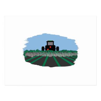 分野を耕すトラクター ポストカード