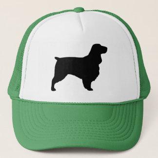 分野スパニエル犬のシルエット キャップ