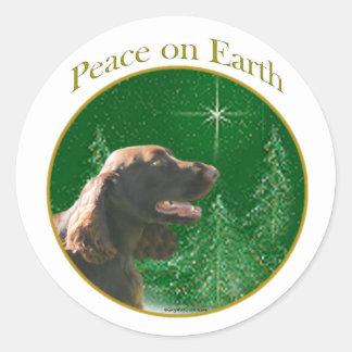 分野スパニエル犬の平和 ラウンドシール