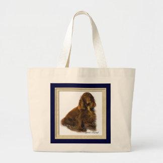 分野スパニエル犬の芸術のギフトのトート ラージトートバッグ