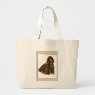 分野スパニエル犬の芸術のギフト ラージトートバッグ