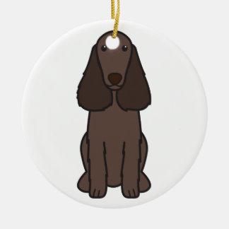 分野スパニエル犬犬の漫画 セラミックオーナメント