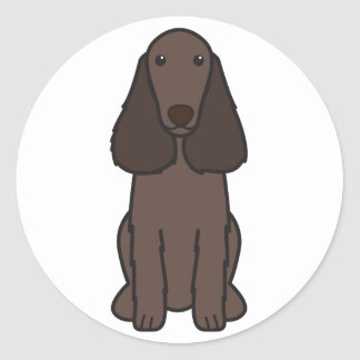 分野スパニエル犬犬の漫画 ラウンドシール
