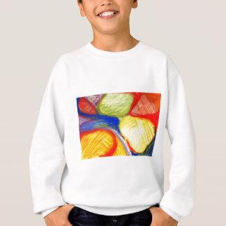 分野(抽象的表現主義)を遊ぶパステル スウェットシャツ