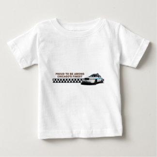 """分隊のCheckerband """"シカゴ最も素晴らしい""""の幼児Tshir ベビーTシャツ"""