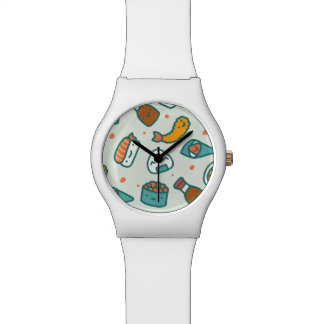 分類されたかわいいのかわいく日本のな寿司 腕時計