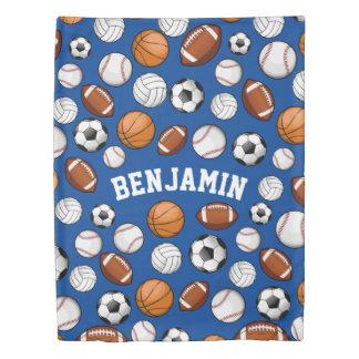 分類されたスポーツのオールスター名前をカスタムするの青 掛け布団カバー