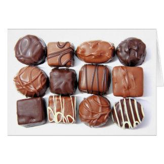 分類されたチョコレートカード カード