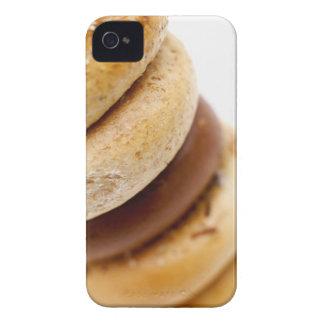 分類されたベーゲルの積み重ねのクローズアップ Case-Mate iPhone 4 ケース