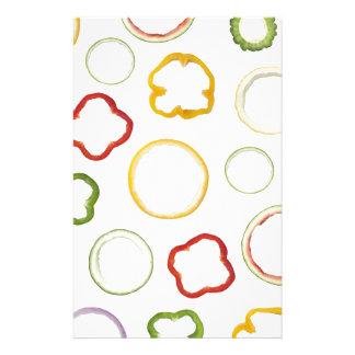分類されたリングや輪の継ぎ目が無いパターンはフルーツを形づけました 便箋