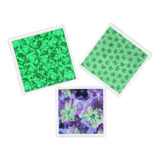 分類されたヴィンテージの花の真新しい緑 アクリルトレー