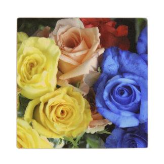 分類された新しいバラの花束 ウッドコースター