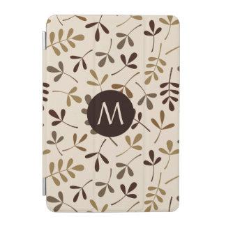 分類された葉の金ゴールドの茶色Crm Ptn (名前入りな) iPad Miniカバー