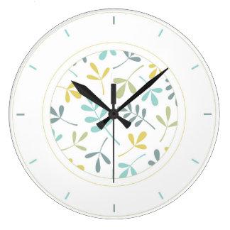 分類された葉色の組合せ及び環境 ラージ壁時計