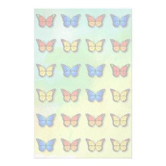 分類された蝶パターン 便箋