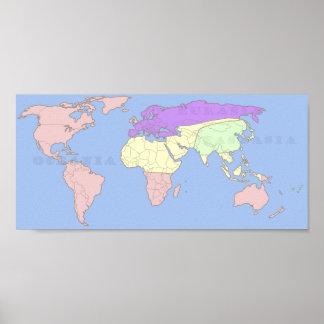分類される1984年の世界地図 ポスター