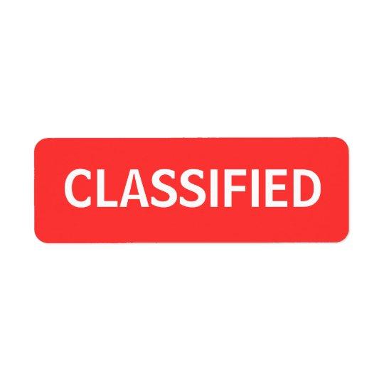 分類される 返信用宛名ラベル