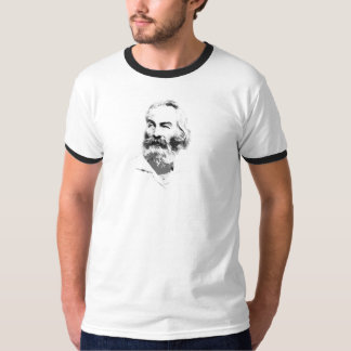 切り出しのウォルト・ホイットマンのクラシックなポートレート Tシャツ
