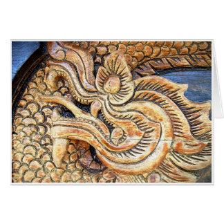 切り分けられたタイのドラゴン カード