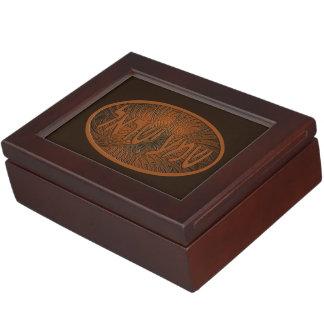 切り分けられた木製のShema Yisrael ジュエリーボックス