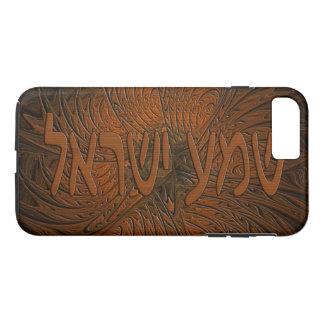 切り分けられた木製のShema Yisrael iPhone 8 Plus/7 Plusケース