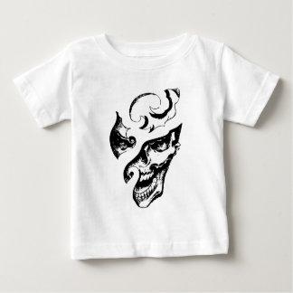 切り分けられた笑うゴシック様式スカルのグラフィックのTシャツ ベビーTシャツ
