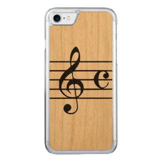 切り分けられたAppleのiPhone 7木箱-ミュージカル Carved iPhone 7 ケース