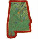 切り取られるアラバマの地図のクリスマスの装飾 アクリル切り抜き