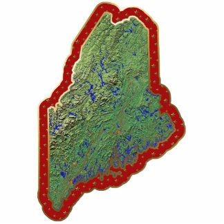 切り取られるメインの地図のクリスマスのオーナメント 写真彫刻オーナメント