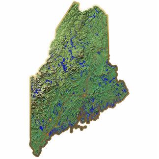切り取られるメインの地図Keychain 写真彫刻キーホルダー