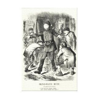 切り裂きジャック-盲人のもみ革1888年 キャンバスプリント