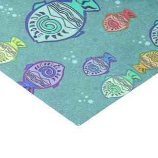 切り貼り芸術の魚パターン + あなたのアイディア 薄葉紙