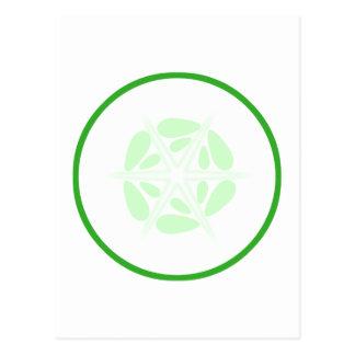切れのきゅうり。 緑および白 ポストカード
