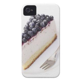 切れのブルーベリーのチーズケーキのクローズアップ Case-Mate iPhone 4 ケース
