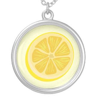 切れのレモンネックレス シルバープレートネックレス