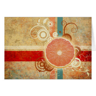 切れの柑橘類の抽象芸術 カード