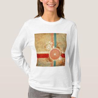 切れの柑橘類の抽象芸術 Tシャツ