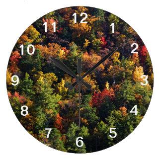 切れの秋 ラージ壁時計