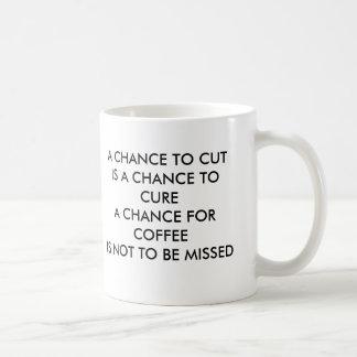 切れるチャンスはチャンスFOを治すチャンス…です コーヒーマグカップ