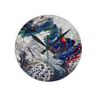 """""""切れ間""""の抽象美術の時計 ラウンド壁時計"""