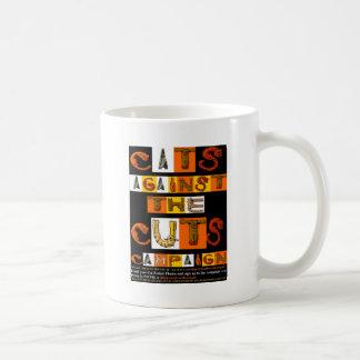 切口のキャンペーンに対する猫 コーヒーマグカップ