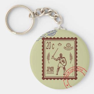 切手の封建的な騎士Keychain キーホルダー