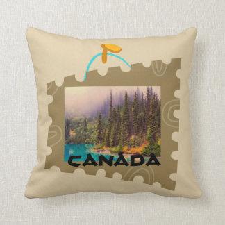 切手フレームの景色の北の景色 クッション