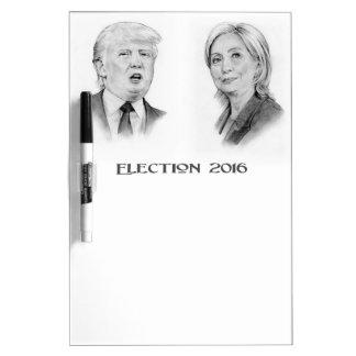 切札およびヒラリーの鉛筆のポートレート、選挙2016年 ホワイトボード