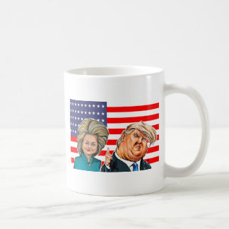 切札およびヒラリーの風刺漫画 コーヒーマグカップ