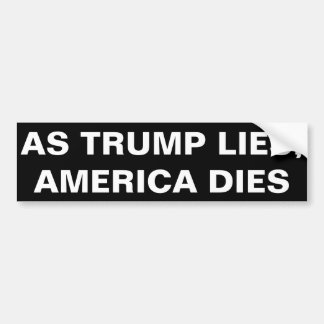 切札があると同時に、アメリカは死にます バンパーステッカー