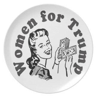 切札のための女性-お金のドルドナルド プレート